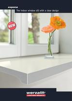 expona The indoor window sill with a clear design