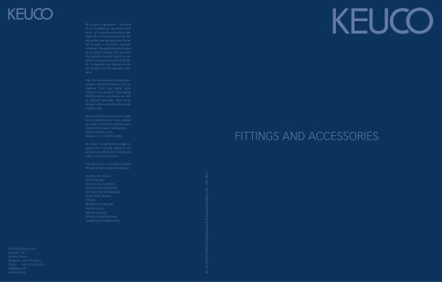 COMPREHENSIVE CATALOUGE Fittings and accessories