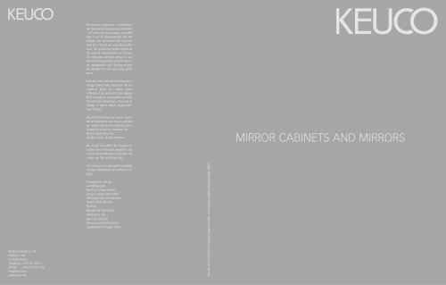 COMPREHENSIVE CATALOUGE Mirror cabinets and mirrors