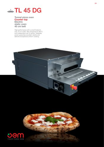Tunnel pizza oven - Counter top TL45DG