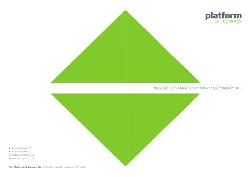 Platform Lift Company Brochure
