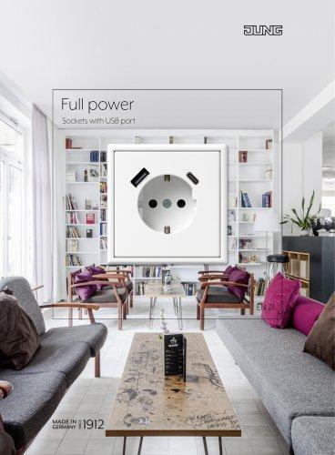 Full power. Sockets with USB port
