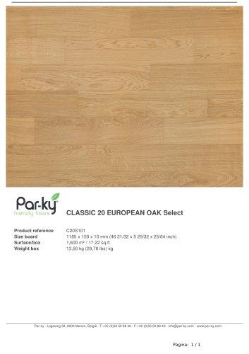 CLASSIC 20 EUROPEAN OAK Select