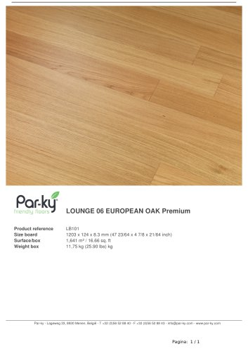 LOUNGE 06 EUROPEAN OAK Premium