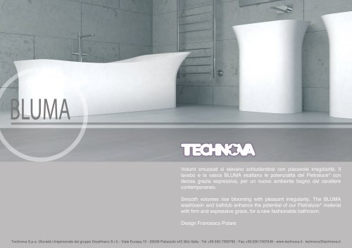 BLUMA bathtub and basin in Pietraluce®