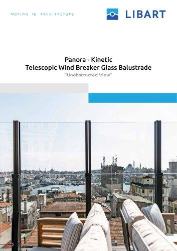 Kinetic Telescopic Wind Breaker Glass Balustrade