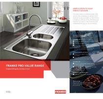 FRANKE PRO-VALUE RANGE