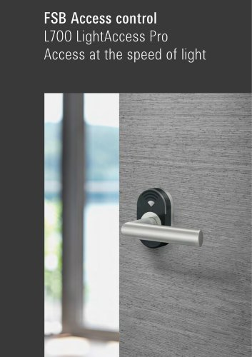FSB Access control L700 LightAccess Pro Access at the speed of light