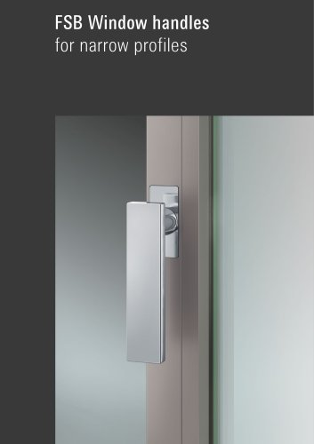 FSB Window handles for narrow profiles