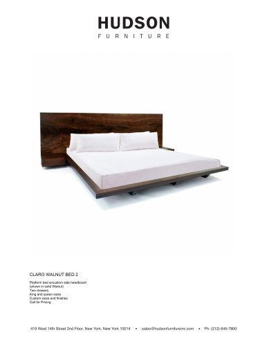 BEDS:CLARO WALNUT BED 2