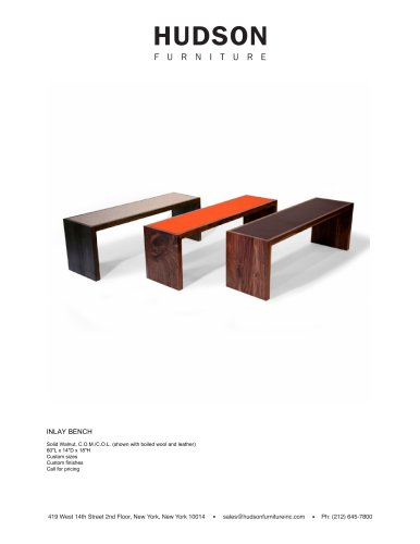BENCHES:INLAY BENCH
