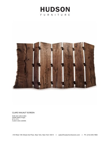 SCULPTURES-ACCESSORIES:CLARO WALNUT SCREEN