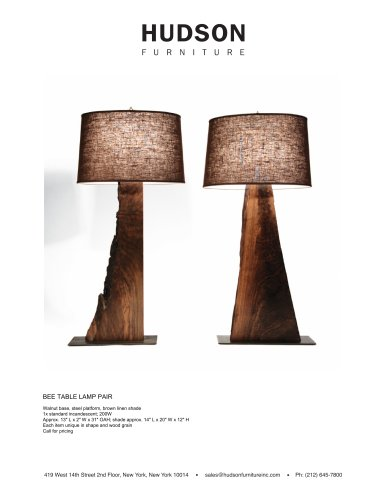 TABLE LIGHTING BEE TABLE LAMP PAIR
