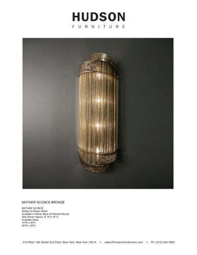 WALL LIGHTING MOTHER SCONCE BRONZE