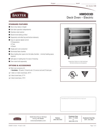Deck Oven - Electric