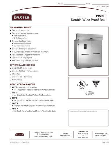 PW2E - Double Wide Proof Box