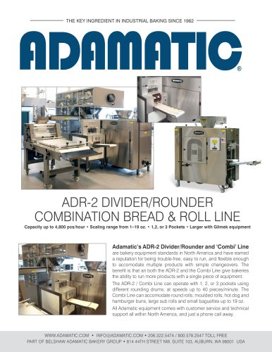 Adamatic Combination Bread and Roll Makeup Line