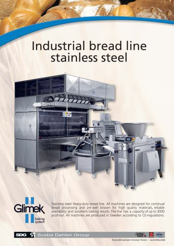 Industrial bread line stainless steel