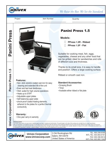 Panini Press 1.5