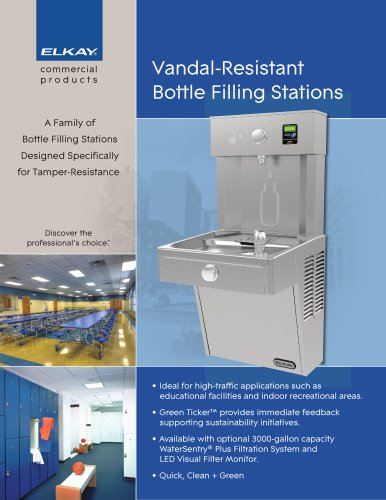Vandal-Resistant Bottle Filling Stations