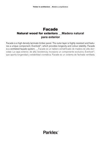 Facade Natural wood for exteriors