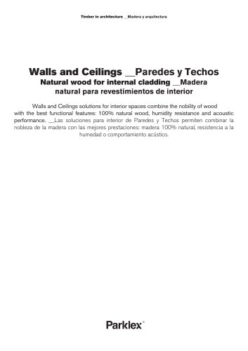 Parklex Walls and Ceilings