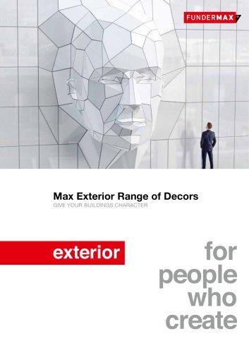 Max Exterior Range of Decors