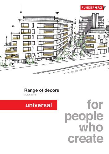Range of decors