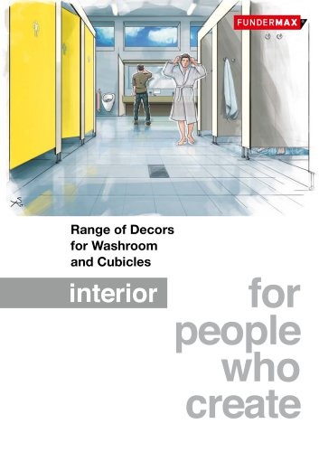 Range of Decors for Washroom and Cubicles
