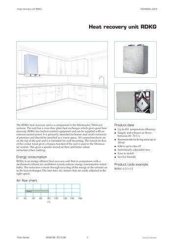 Heat recovery unit RDKG