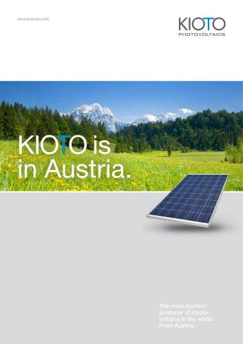 KIOTO Photovoltaics - Image Brochure - KIOTO CLEAR ENERGY