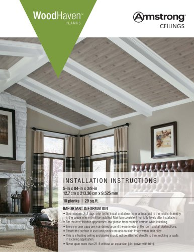 INSTALLATION INSTRUCTIONS - WOODHAVEN CEILINGS