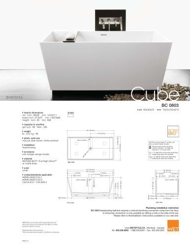 BC 08-03 The Cube Collection