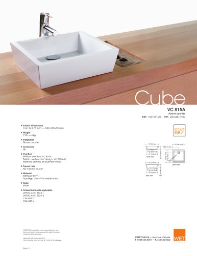 VC 815A The Cube Collection