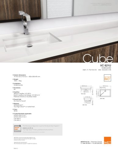 VC 821U The Cube Collection