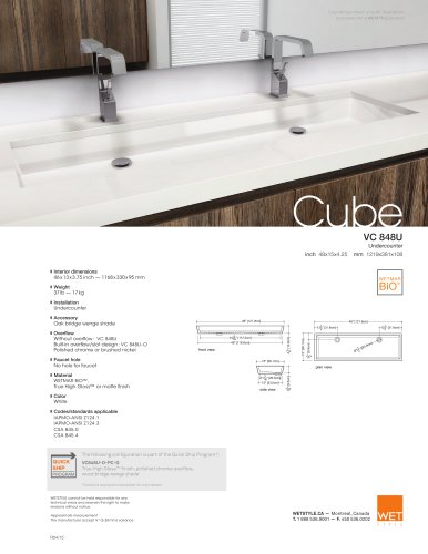 VC 848U The Cube Collection