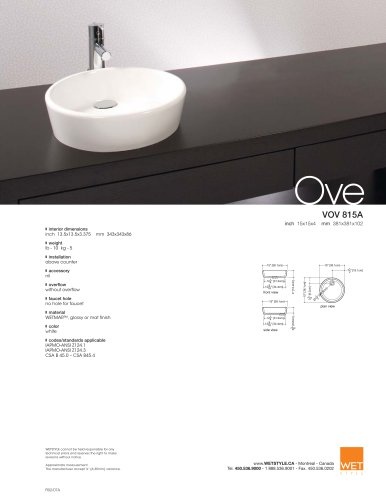 VOV 815A The Ove Collection