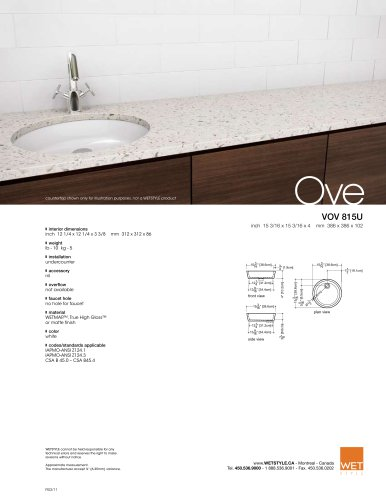 VOV 815U The Ove Collection