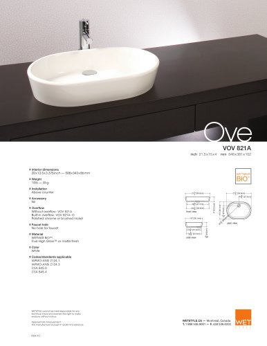 VOV 821A The Ove Collection