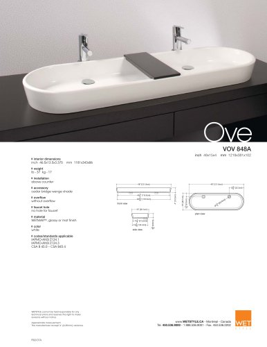 VOV 848A The Ove Collection