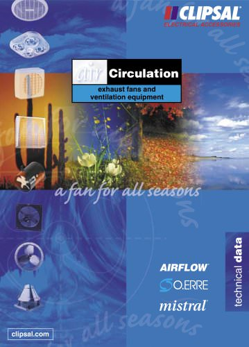 Air Circulation, Exhaust Fans and Ventilation Equipment Technical Data