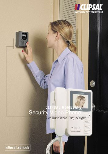 Clipsal HomeSafe Security Video Phone, See who\'s there day or night