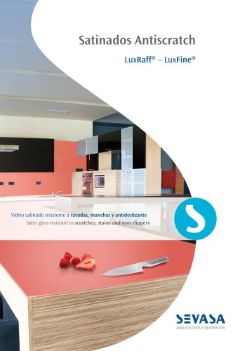 Antiscratch Glass Brochure - architecture & decoration