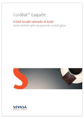 LuxMat Laquée Brochure - lacquered glass - architecture&decoration