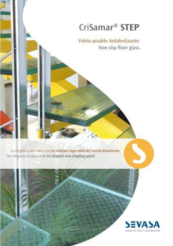 Non-slip floor glass