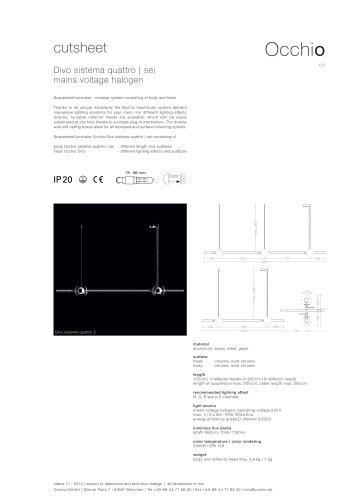 cutsheet Divo sistema quattro   sei mains voltage halogen