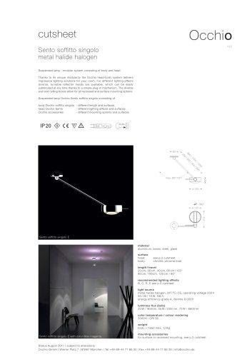 Sento ceiling lamp CDM