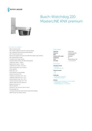 Busch-Watchdog 220 MasterLINE KNX premium SILVER METALLIC