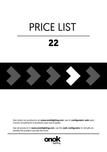 PRICE LIST 22