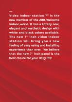 ABB-Welcome Video Indoor Station 7'' - 2